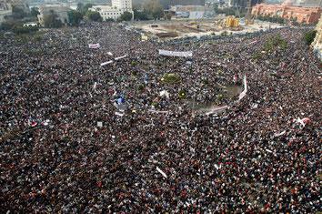 """Am 1. Februar 2011 organisieren Regierungsgegner den """"Marsch der Millionen"""". Allein in der Hauptstadt Kairo sollen bis zu zwei Millionen Menschen demonstrieren. © Amr Abdallah Dalsh/Reuters"""