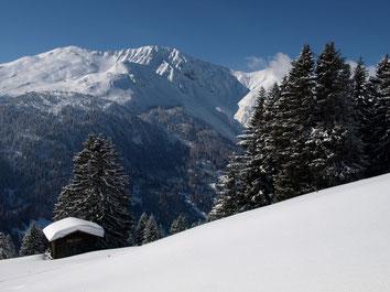Erstmals die Winterlandschaft auf Schneeschuhen erkunden