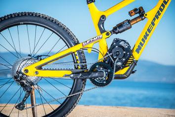 electric kit bike's frame design