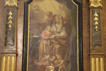 Joachim und Anna mit Ihrer Tochter Maria am Seitenaltar der Pfarrkirche Mauer bei Melk