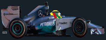 Lewis Hamilton by Muneta & Cerracín - Lewis Hamilton del Mercedes AMG Petronas F1 Team con su Mercedes F1 W05