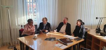 v.l.n.r.:  MdL Helga Lerch, Dr. Alexander Schubert,  Staatssekretär a.D. Günter Eymael u. Susanne Schilz
