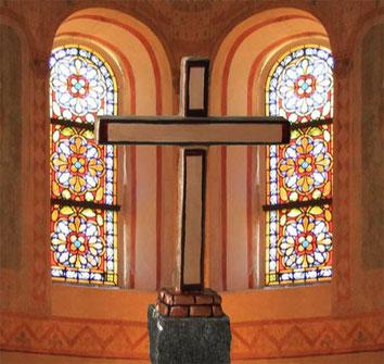 Symbolisches Standkreuz Stil Antik