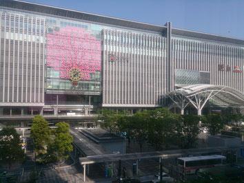 事務所から見た風景(博多駅前)