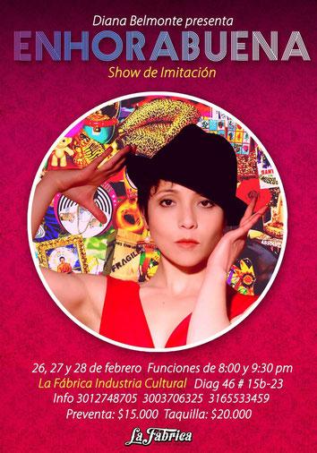 ENHORABUENA Show de Imitación por Diana Belmonte