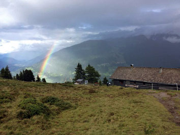 Regenbogen Hütte Zams Wenns Alpen Österreich E5