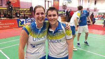 Die Matchwinner des TV Refrath: Max Schwenger und Carla Nelte