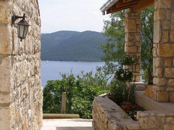 Каменные дома в Хорватии