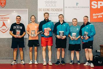 Matthias Rinschede, Matthias Wibbe, Michael Schuy, Mario Sander, Fabio Deckert und Dieter Wickenkamp.