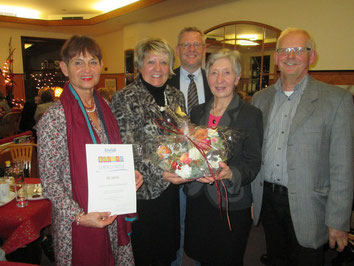 Gruppenbild von links: 1. Vorsitzende KV Amberg Evelin Hensel, 1. Vorsitzende LV Bayern Ingeborg Pongratz, 1. Vorsitzende KV SAD Theresia Lorenz