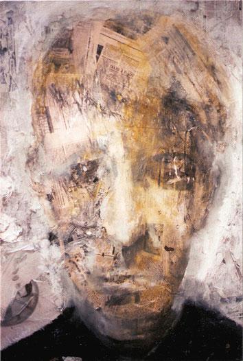 Retrato anónimo en ocres, 94x65cm .2000