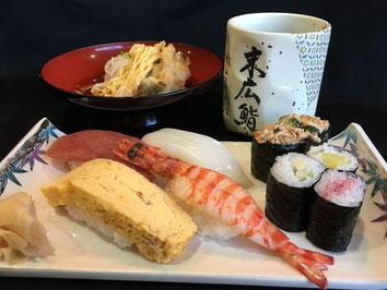 寿司ランチ menu