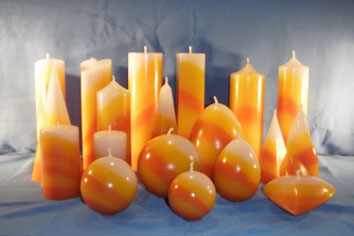 serie di candele Giallo arancio