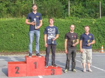 Peter Carius (Platz 1, MTC Gera e. V. im DMV), Marcus Kurstedt (Platz 2, MC Smalcalda e. V. im ADMV), Andreas Prautsch (Platz 3, MC Altenburg e.V. im DMV), Denis Baumgart (Platz 4, MC Jena e. V. im DMV), Daniel Nietzold (Platz 5, MTC Gera e. V. im DMV)