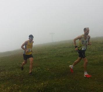 Lukas Gärtner (rechts im Bild) heute in Slowenien (Foto zVg)