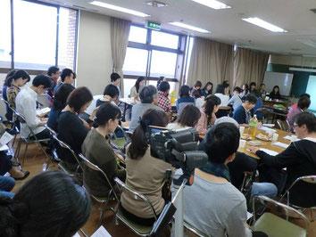 ▲2014年10月に開催した第1回交流会「声のちから」
