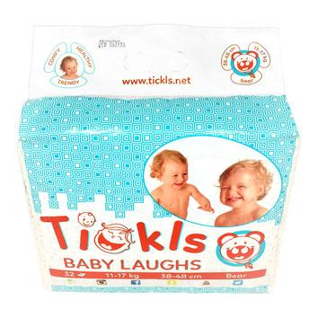 Pannolini per bambino in confezione da 32 pezzi,  dai 11 ai 17 kg,  vita 38 - 48 cm.