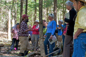 Jeff Littleton, an adjunct professor of Environmental Studies at Antioch University New England, led a vernal pool walk at Distant Hill Gardens in the spring of 2013.
