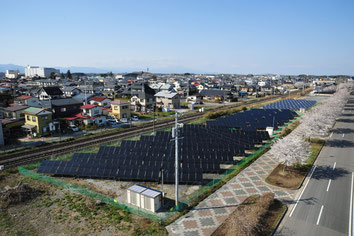 地域の景観ともマッチする鏡石旭町第一太陽光発電所