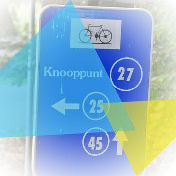 Das Knotenpunktesystem in Belgien (Blaue Tafeln)