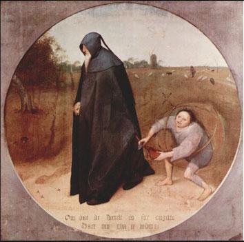 """Peter Bruegel, """"Misantropo"""" (1568)"""