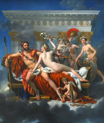 """J-.L. David, """"Marte disarmato da Venere e le Grazie"""""""