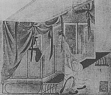 Chambre à coucher. Henri Maspero (1883-1945) : La vie privée en Chine à l'époque des Han. — Conférence au musée Guimet, le 29 mars 1931. Parution dans la Revue des Arts Asiatiques, Paris, 1932, tome VII, pages 185-201.