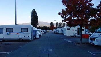 Parcheggio degli impianti sportivi a Cles