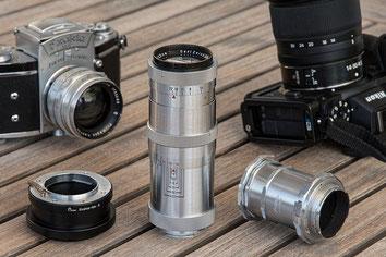 Triotar mit Zwischenringset und Pixco-Adapter. Alte Objektive an Digitalkameras: Triotar 4/13,5 cm für Exakta an Nikon Z7. Foto: bonnescape.de