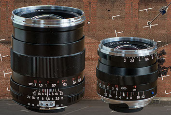 Distagon T* 2,0/35 ZF (links) versus Biogon T* 2,0/35 ZM: Welches ZEISS-Objektiv ist besser?