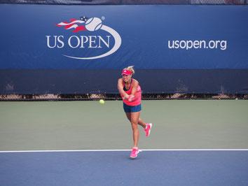 Angie Kerber bei den US Open - Public Viewing des Finals im S.C. Sperber Tennis Clubhaus.