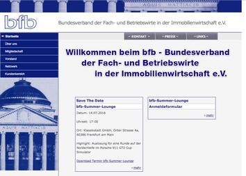 Webseite zum Bundesverband der Fach- und Betriebswirte in der Immobilienwirtschaft e. V.