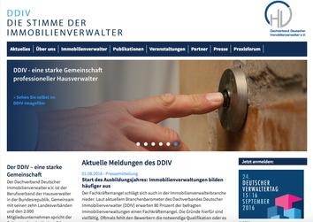 Webseite Dachverband Deutscher Immobilienverwalter e. V.