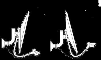Как определить направление на спутник угол наклона
