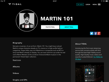 Martin 101 on Tidal Hifi Music