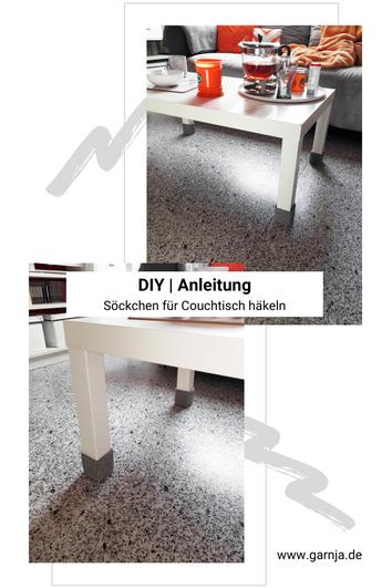 DIY | Anleitung Söckchen für meinen Couchtisch häkeln auf www.garnja.de