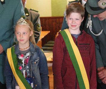 2017 Kinderkönige Jill Wöhlermann und Jannes Jirjahn
