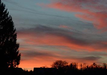 """22.Dezember 2014 - Fernsehen: Live-Uebertragung aus Luzern. Reporter: """"Ein wunderschöner Sonnenuntergang"""". Da schaute ich zum Fenster hinaus."""