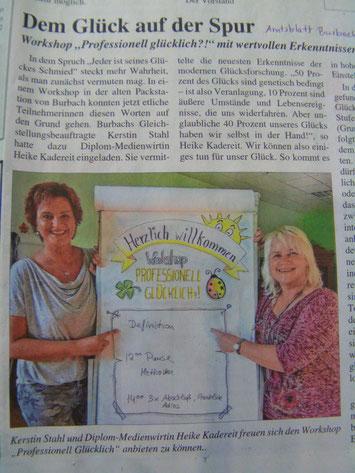 """Dem Glück auf der Spur mit dem Workshop """"Professionell glücklich"""" von wow-workshops"""