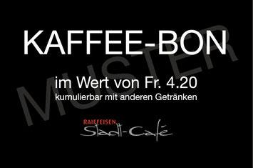 Raiffeisen Stadt-Café - Foto Muster Kaffee-Bon Rückseite