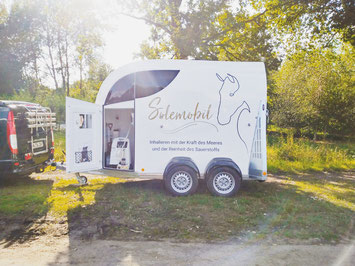 Das Solemobil für Pferde in Seevetal - Inhalation für Pferde