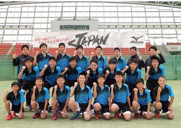 全日本ソフトテニスU14男子トレーナー