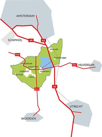 De Ronde Venen centraal gelegen in het Groene Hart