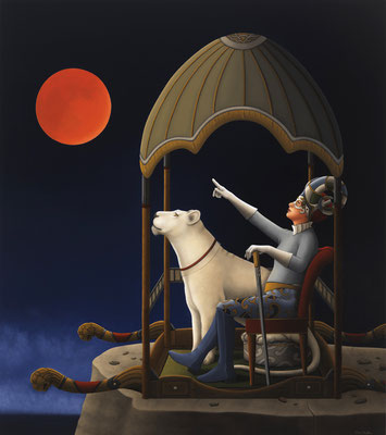 "Deborah Van Auten, ""Moonstruck,"" 2016, oil on linen, 34 x 30 inches, SOLD"