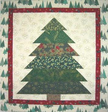 Weihnachtsbaum als Wandschmuck - Patchwork