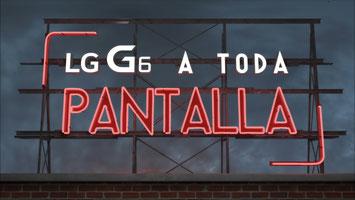 Cartel 3D para publicidad en web. LG A toda Pantalla