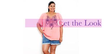 rosa Tunika im Indian-Style in großen Größen