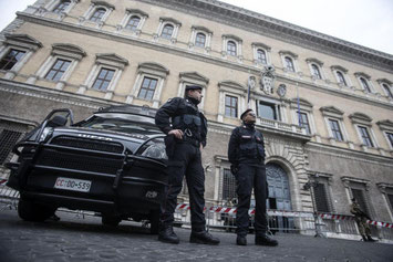 L'ambasciata francese a Roma, luogo dell'annunciata manifestazione