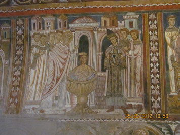 Rom: Santi Quatro Coronati - Silvesterkapelle, Taufe Konstantins