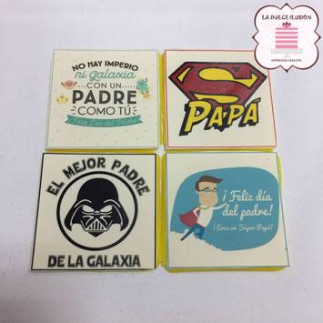 Regalo original dia del padre. Galletas decoradas para papá. Fotos sopresa día del padre en Cartagena y Murcia, La dulce ilusión